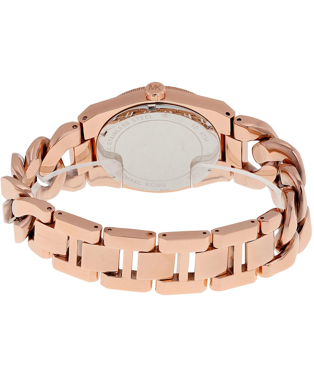 michael kors channing rose gold stainless steel bracelet. Black Bedroom Furniture Sets. Home Design Ideas